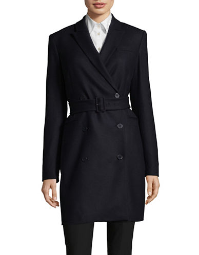 Theory Wool-Blend Blazer Dress-DEEP NAVY-00