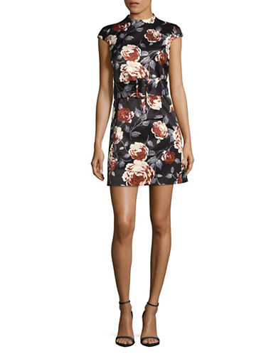 Theory Floral Shift Dress-BLACK MULTI-4