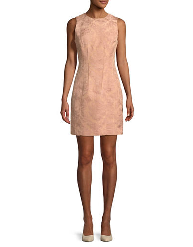 Theory Baroque Jacquard Hourglass Dress-PINK-00