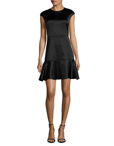 Theory Essential Fit-and-Flare Dress-BLACK-00
