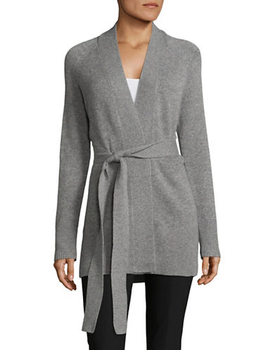 Theory Cashmere Wrap Coat-GREY-X-Small