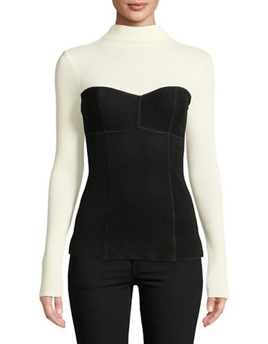Theory Bustier Seam Top-BLACK-Medium