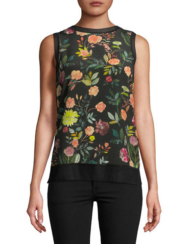 Theory Lewie Printed Blouse-MULTI-Large