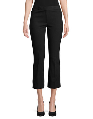 Theory Flared Capri Pants-BLACK-12