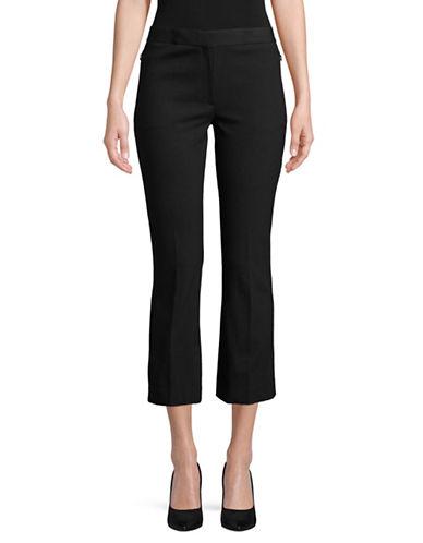 Theory Flared Capri Pants-BLACK-4