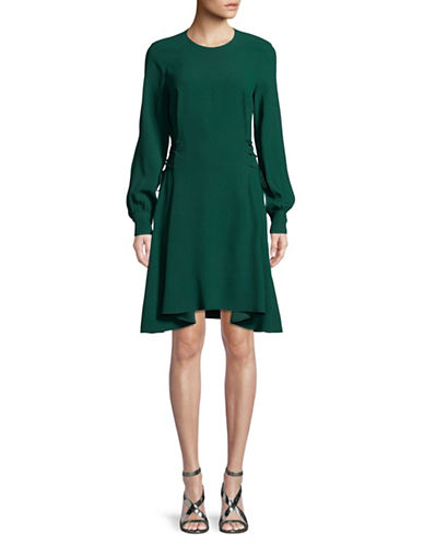 Theory Kensington Lace-Up Dress-BRIGHT HUNTER-2