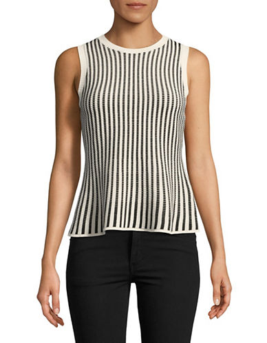 Theory Textured Shell Peplum Top-WHITE-Large