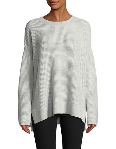 Theory Waffle-Knit Cashmere Sweater-GREY-X-Small