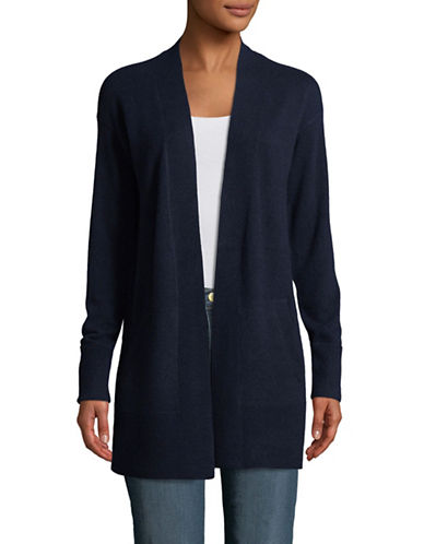 Theory Relaxed Cashmere Cardigan-NAVY-Small