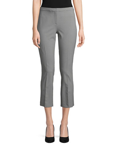 Theory Classic Skinny Cropped Pants-GREY-2