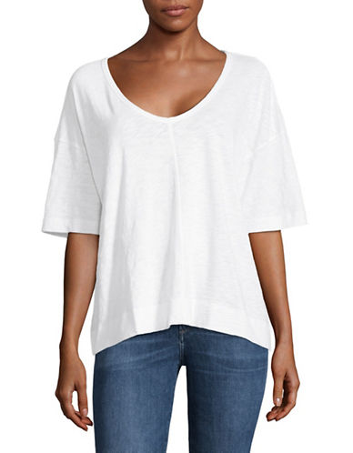 Theory Relaxed Cotton Top-WHITE-X-Small 89998891_WHITE_X-Small