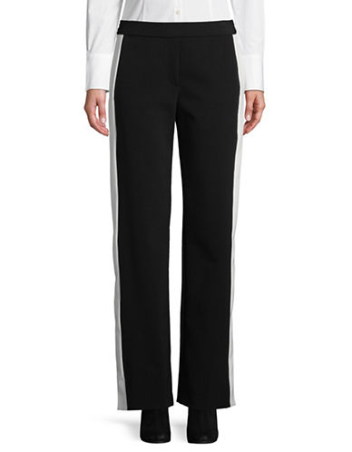 Theory Pull-On Stripe Pants-BLACK-Small 89853508_BLACK_Small