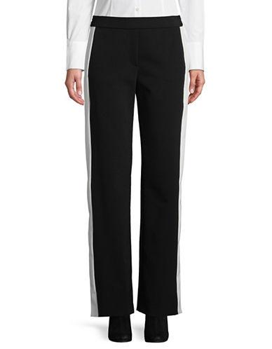 Theory Pull-On Stripe Pants-BLACK-X-Small 89853507_BLACK_X-Small