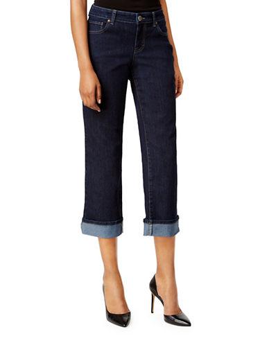 Style And Co. Petite Curvy Capri Jeans-BLUE-Petite 6