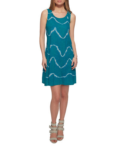 Jessica Simpson Otte Swing Dress-BLUE GRASS-X-Small