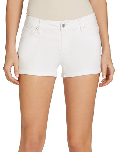 Jessica Simpson Forever Rolled Denim Shorts-WHITE-30