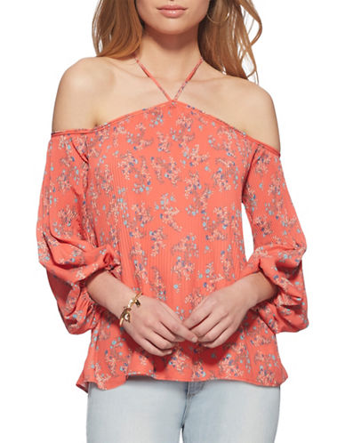 Jessica Simpson Anita Top-CORAL-X-Small
