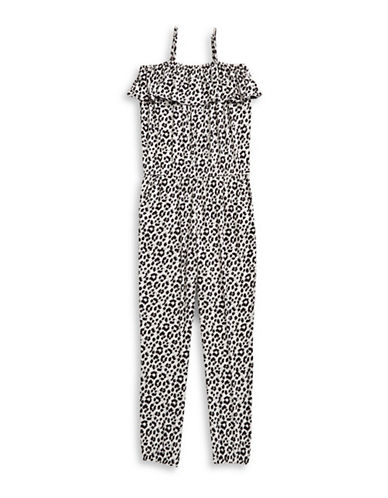 Jessica Simpson Maisie Leopard Romper-BROWN-Small
