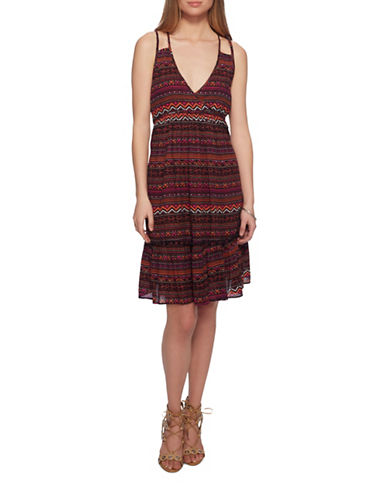 Jessica Simpson Kisha Sleeveless Midi Dress-HABANERO-X-Small