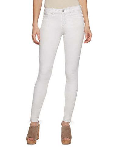 Jessica Simpson Kiss Me Ankle Skinny Jeans-WHITE-28