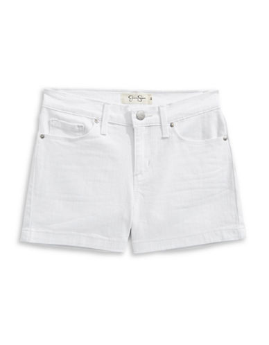 Jessica Simpson Kiss Me Stretch Twill Shorts-WHITE-10