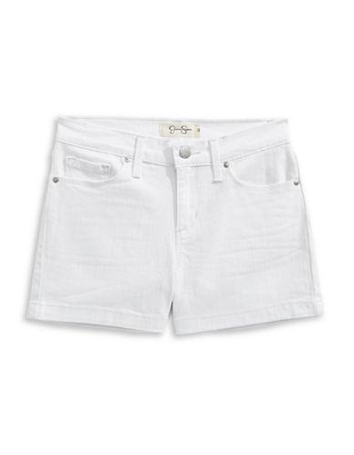 Jessica Simpson Kiss Me Stretch Twill Shorts-WHITE-8
