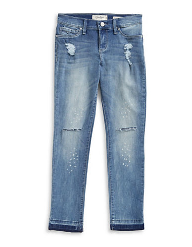 Jessica Simpson Sequin Knee Skinny Jeans-BLUE-16