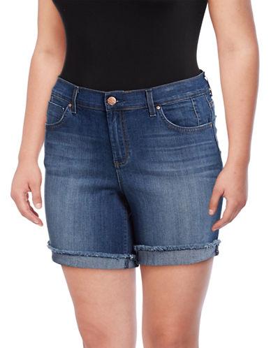 Jessica Simpson Plus Mika Best Friend Midi Shorts-BLUE-24W