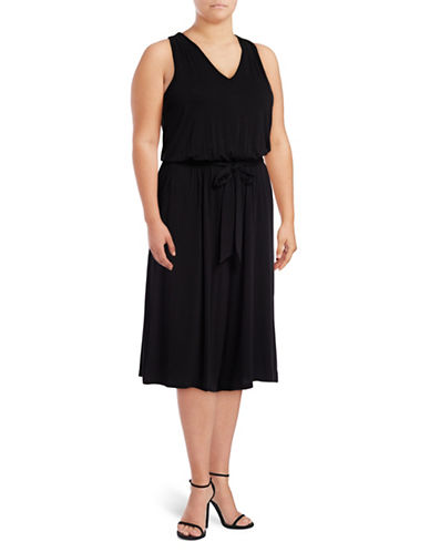 Jessica Simpson Plus Mira Culotte Jumpsuit-BLACK-2X