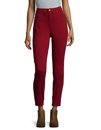 Style And Co. Curvy Skinny Jeans-RED-14