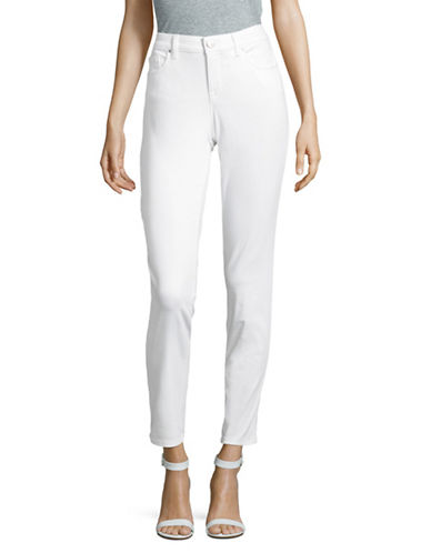 Style And Co. Curvy Skinny Jeans-WHITE-10