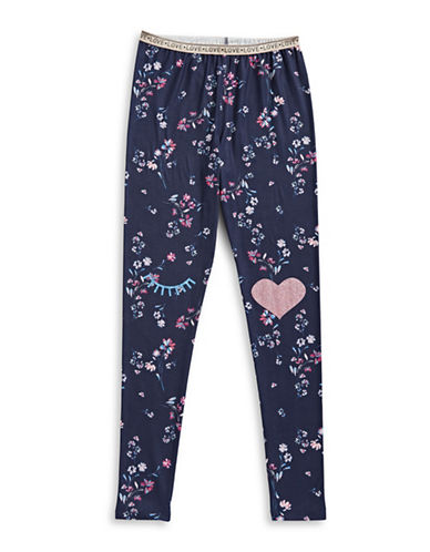 Jessica Simpson Llama Leggings-NAVY-Large