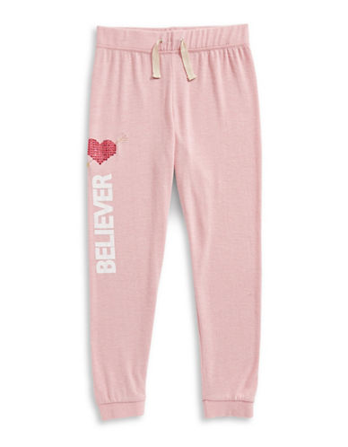 Jessica Simpson Soft Believer Joggers-PINK-Small