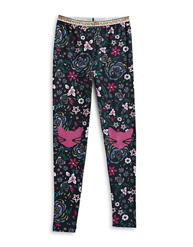 Jessica Simpson Garden Novelty Leggings-BEIGE-X-Large