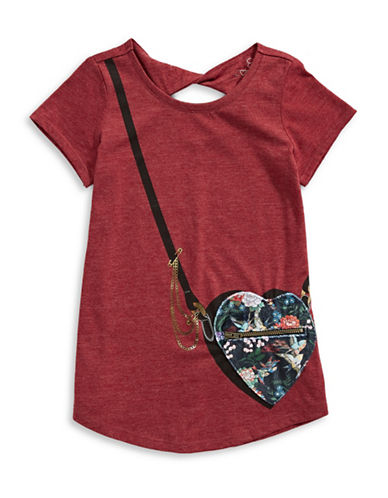 Jessica Simpson Katelyn Handbag-Motif Tee-RED-Large