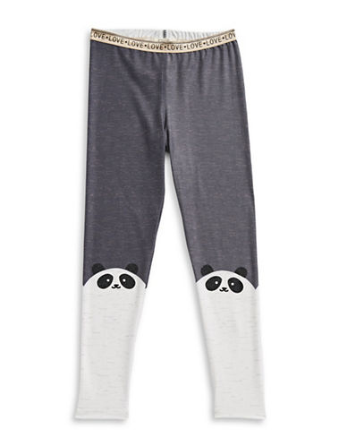 Jessica Simpson Panda Love Leggings-GREY-X-Large