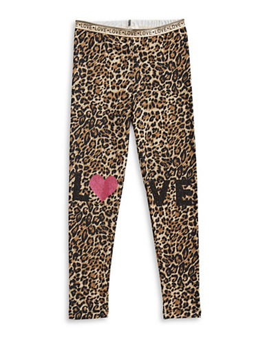 Jessica Simpson Leopard Love Leggings-BROWN-Large