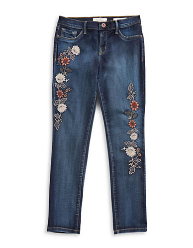 Jessica Simpson Kiss Me Embroidered Jeans-BLUE-8