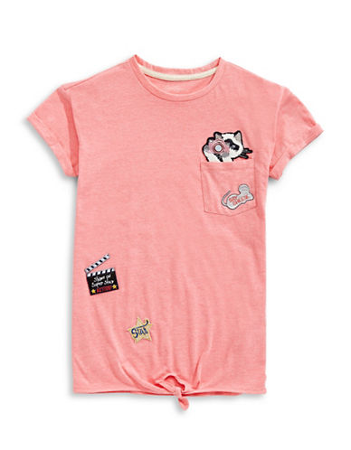 Jessica Simpson Kitty Patch T-Shirt-PINK-Large