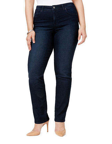Style And Co. Plus Five-Pocket Straight Leg Jeans-BLUE-16W
