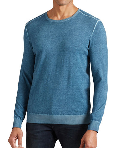 John Varvatos Star U.S.A. Cold Dye Crew Neck Sweater-BLUE-X-Large