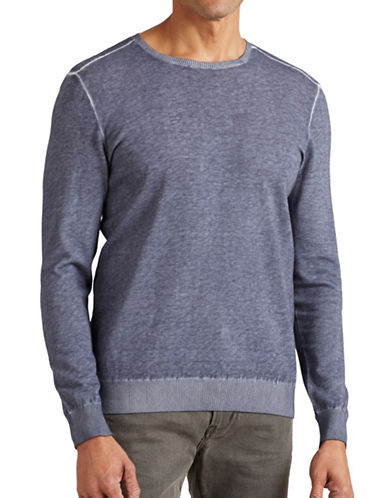 John Varvatos Star U.S.A. Cold Dye Crew Neck Sweater-PURPLE-X-Large