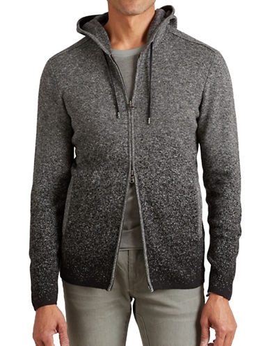 John Varvatos Star U.S.A. Two-Tone Degrade Hoodie-CHARCOAL-Large 88807916_CHARCOAL_Large