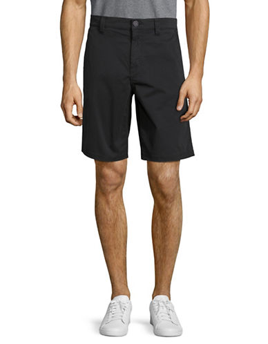 John Varvatos Star U.S.A. Needle Cotton-Blend Shorts-BLACK-31