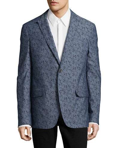 John Varvatos Star U.S.A. Floral Vine Sportcoat-BLUE-36