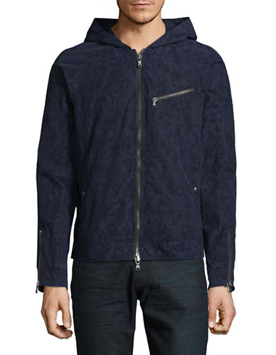 John Varvatos Star U.S.A. Camouflage Hooded Jacket-BLUE-Large 88999813_BLUE_Large