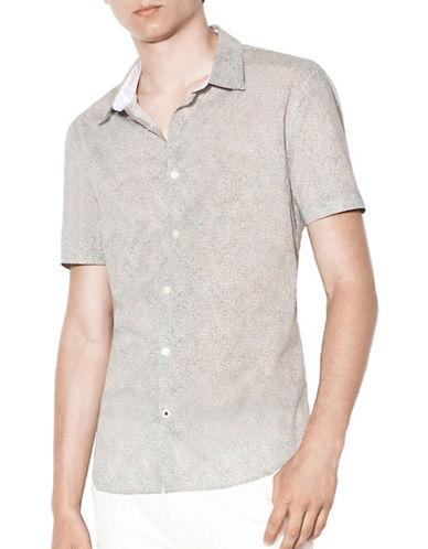 John Varvatos Star U.S.A. Slim Fit Sport Shirt-BLACK/WHITE-XX-Large