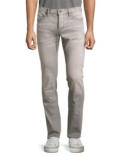John Varvatos Star U.S.A. Wight Faded and Washed Jeans-GREY-38