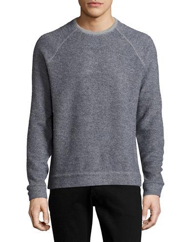 John Varvatos Star U.S.A. French Terry Raglan Sweater-GREY-Medium 88999727_GREY_Medium