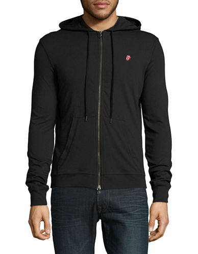 John Varvatos Star U.S.A. Rolling Stones Full-Zip Hoodie-BLACK-Medium 88999787_BLACK_Medium